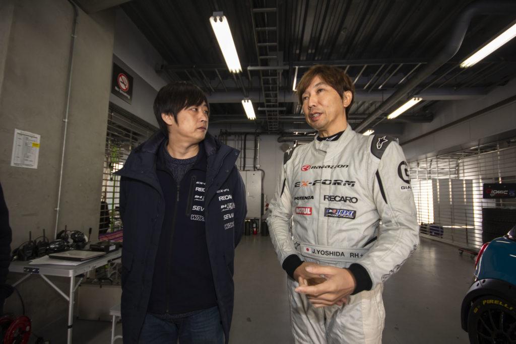 ハツミくんとヨッシー:EX-FORM RACING TEAM