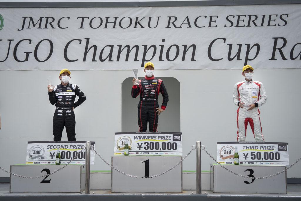 MINI CHALLENGE JAPAN Rd.03 SPORTSLAND SUGO:表彰台